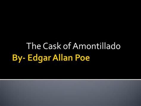 Thesis statements the cask of amontillado